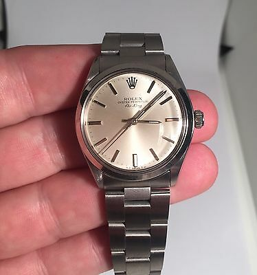 Rolex Air King Mens Stainless Steel Watch Oyster Bracelet Silver Dial 5500