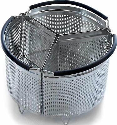 3-Piece Divided Steamer Basket for Instant Pot Accessories 3