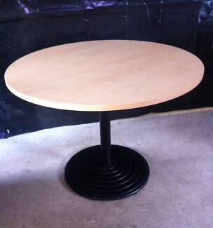 Cafe Style Round Table With Heavy Metal Base - Number 1 Hazelbrook Blue Mountains Preview