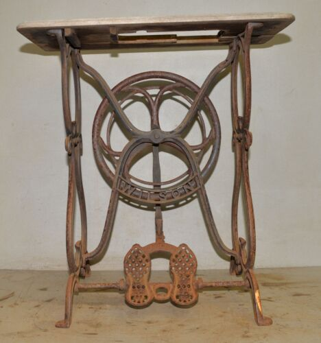 Antique Wilson cast iron sewing machine treadle base collectible 1870