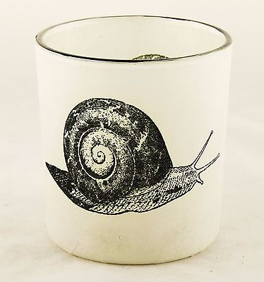 Snail Autumn Nature Glass Votive Candle Holder Yankee Candle NEW garden paper