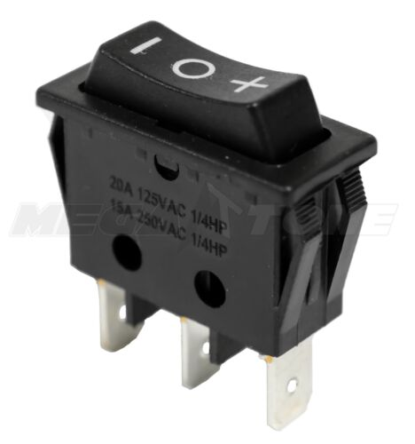 SPDT Momentary (On)-Off-(On) Rocker Switch +/- Actuator 20A/125VAC USA SELLER!