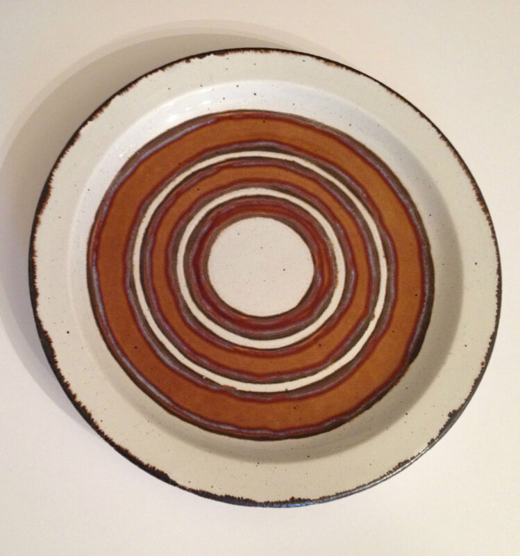 Midwinter EARTH Stonehenge Dinner Plate Made in England Brown Circles 1970's
