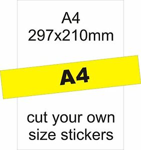 Full-A4-Uncut-5-Labels-5-A4-Sheets-Gloss-White-Photo-Inkjet-Stickers
