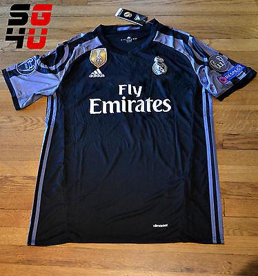 Real Madrid Third 3Rd Black Jersey Adidas 7 Cristiano Ronaldo Champions League