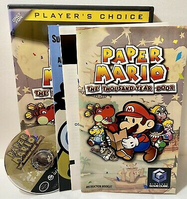 Paper Mario: The Thousand-Year Door (GameCube) Minty & Complete! WW!