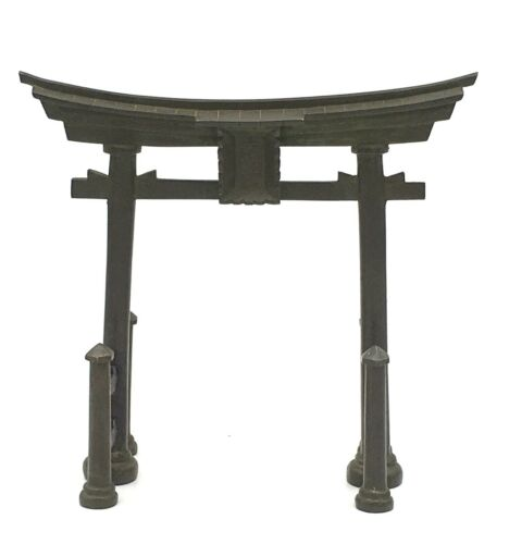 Japanese Meiji Period Bronze Shinto Gates By Nagawa