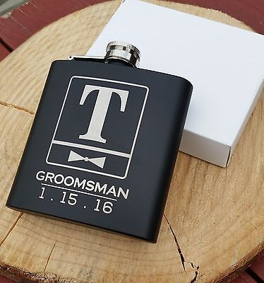 Personalized Flask, Best Man Groomsmen Bridesmaid Gifts Wedding Present