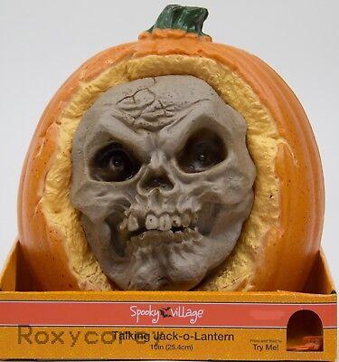 Halloween Spooky Village 10 in Battery Operated Talking Jack O Lantern Pumpkin