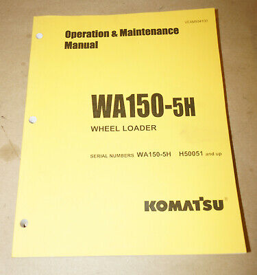 2007 Komatsu Wa150 Wheel Loader Operation Maintenance Manual Pn Veam934100
