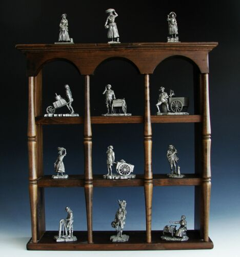 The Colonial Peddlers Pewter Figurine SET Sculpture Collection Franklin Mint