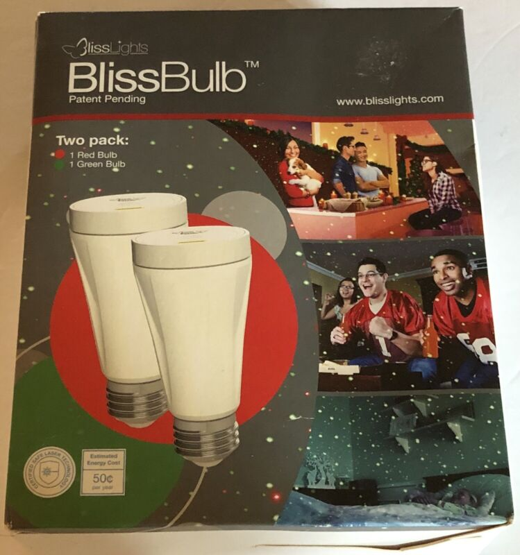 Blissbulb Bliss Lights Lot 2 Pk Red Green Laser Pinpoint Light Bulbs New Tested