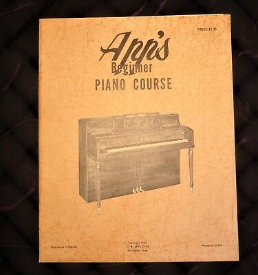 Beginner Piano Lesson Books - Beginner Piano Course Lesson Book from Vintage App's Music House OW Appleton!