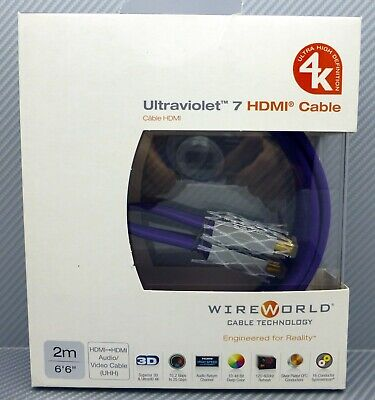 WireWorld UltraViolet 7 HDMI cable 2 meter 4K Ultra High Definition HDMI  for sale  Shipping to India