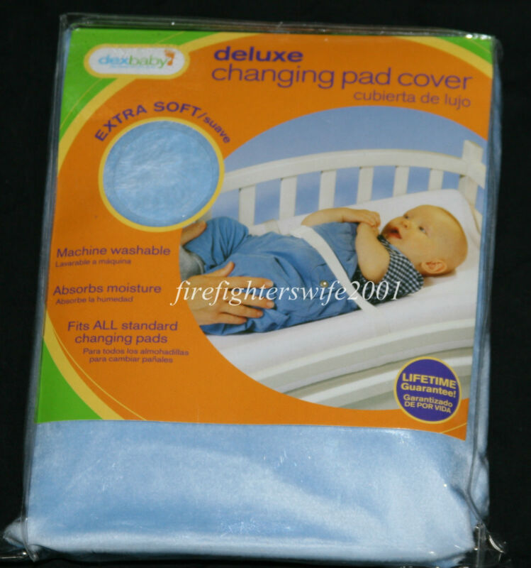Dexbaby Deluxe Changing Pad Cover Blue baby boy soft new in pkg