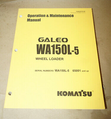 2005 Komatsu Wa150l Wheel Loader Operation Maintenance Manual Pn Ten00078-00
