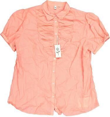 Seidensticker Damen Bluse Slim Fit kurzarm Oberteil Orange Gr. 44