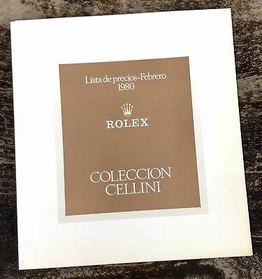 ROLEX Cellini Vintage Price List 1980 King Queen Midas 3799 4316 4611 4609 4031