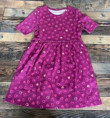 Gymboree Mix N Match Girls knit Hearts Purple Pink dress Valentine Day NWT M 7 8](Girls Valentine Dresses)