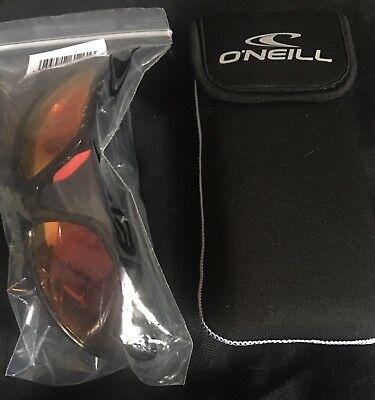 Oneill ONS-ZEPOL-196P Men's Black Frame Orange Lens Polarized Sunglasses NWT