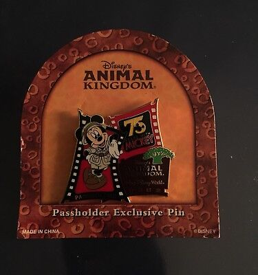 75 Years Mickey Mouse Animal Kingdom Passholder Disney Pin LE 7500