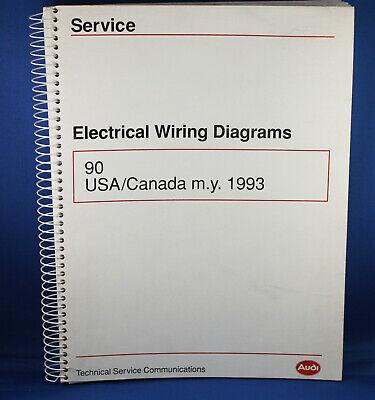 1993 Audi 90 Quattro Factory Original Electrical Wiring Diagrams Book Manual