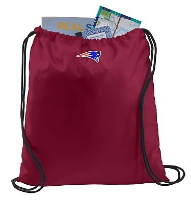 New NFL Cinch Sling Bag Backpack  NEW ENGLAND PATRIOTS Embroidered