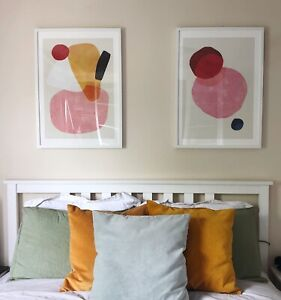 Large Bright Abstract Coloured Art Prints 50x70 (Set of 2)
