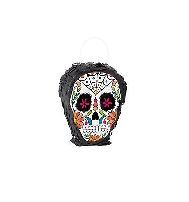 DAY OF THE  DEAD Mini Skull PIÑATA Favor Party Supplies Decoration Halloween  (Day Of The Dead Supplies)