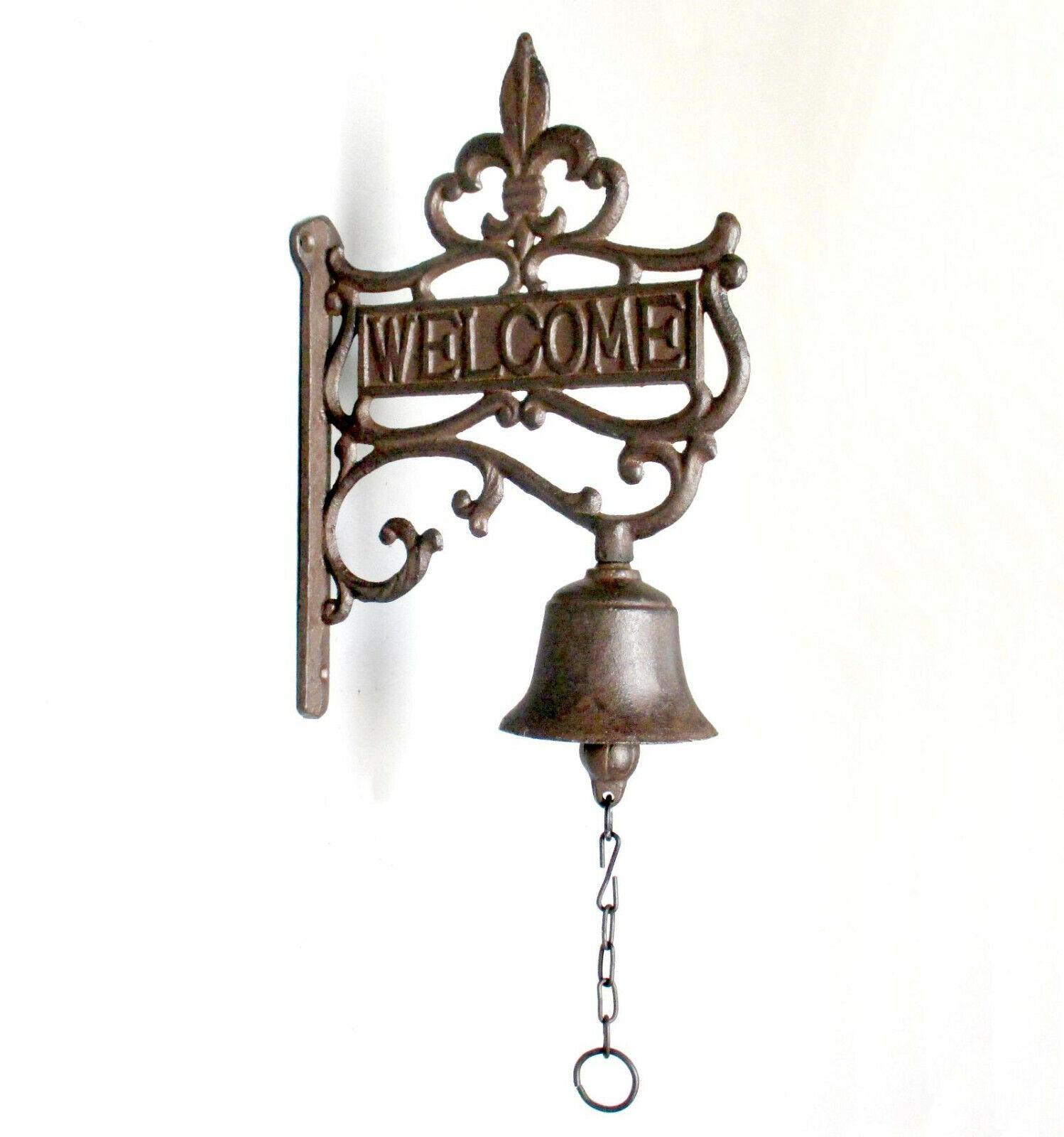 Glocke Klingel Türglocke Anitk Wand-Glocke Gusseisen Garten-Haus Geläut 50cm XL