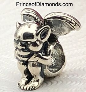 Silver coloured goblin bead fits Pandora bracelet