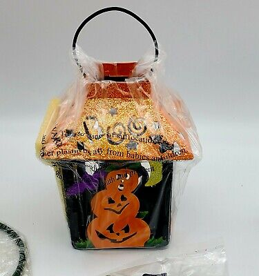 NEW Vintage AVON 2003 HALLOWEEN TEA LIGHT CANDLE LANTERN Hanging Stand