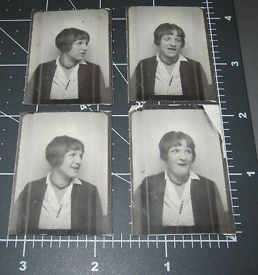 SET OF 4 Expressive WOMAN Sassy FUNNY Face Lady Girl PHOTO BOOTH Vintage Arcade - Funny Face Photo Booth