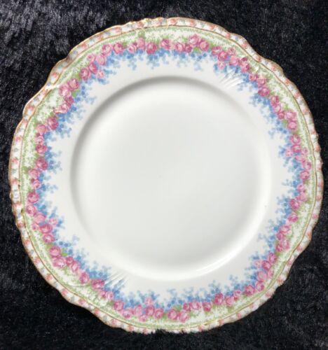 J. Poryat Limoges Antique Plate Porcelain Floral With Gold Rim 8 3/4 J.P.France - $19.00