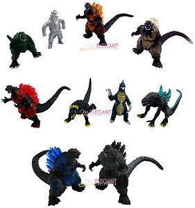 Godzilla Monsters Mechagodzilla Trendmaster Gigan Anguirus 10 Action Toy Figure