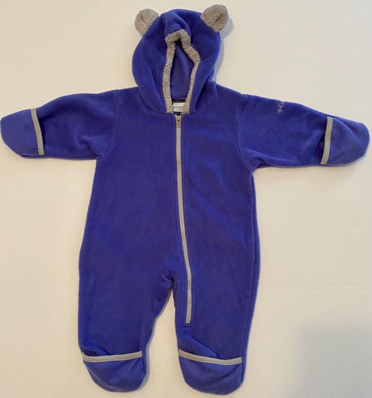 Columbia Hooded Fleece Bunting 6 Months Fleece Zip Up
