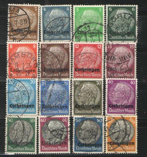 Germany - Lothringen Overprints 1940 Used VG - Complete set overprints