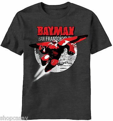 disneys big hero 6 baymax youth size charcoal grey t shirt