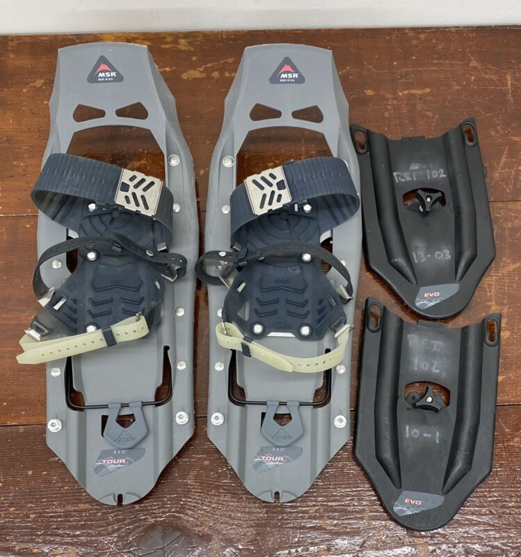 """MSR Mountain Safety Research Evo Tour Snowshoes 22"""" w/ Tails New"""