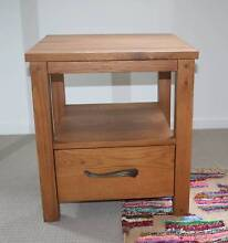 1 x Bedside Table in solid oak timber and in VGC Kelvin Grove Brisbane North West Preview
