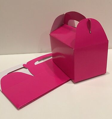 6 HOT PINK PARTY FAVOR TREAT BOXES BAGS GREAT FOR BIRTHDAYS WEDDING  BABY - Party Favor Bags For Baby Shower
