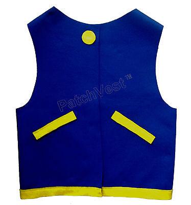 Made in USA FELT Blue Ash Ketchum Trainer Vest Costume Anime Pokemon Go](Pokemon Trainer Ash Costume)