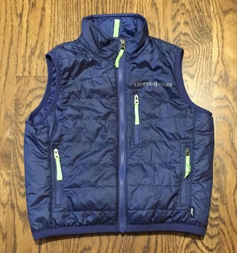 Vineyard Vines Mountain Weekend Vest Boys Sz 5 Blue