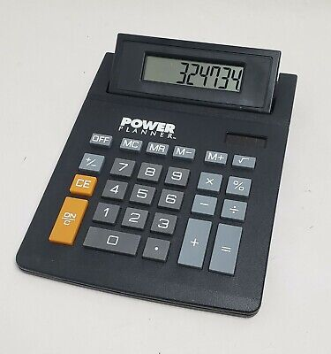 Desk-top Calculator With Solar Power Switch Office Home