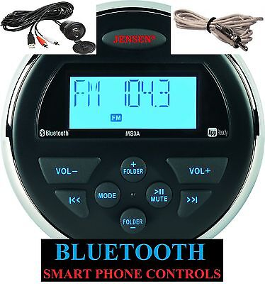 JENSEN MS3ARTL MS3A Bluetooth MP3 Marine Waterproof Boat Stereo JENAUX+ANTENNA