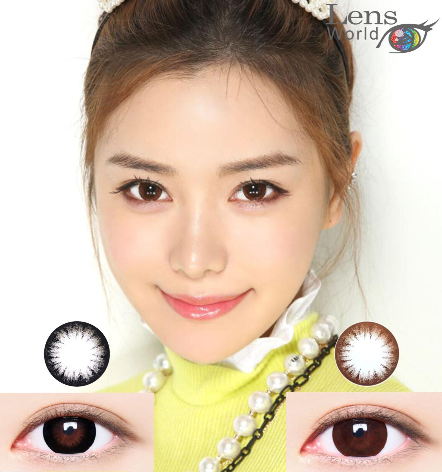 Mega Big Eye Color Farbige Kontaktlinsen Power Stärke Korea Contact Lenses-15.0