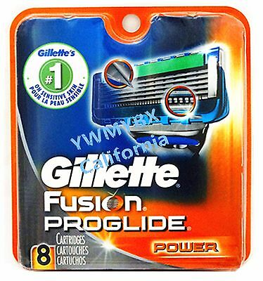 Gillette Fusion Proglide Power Razor Blades,8 Cartridges,100%AUTHENTIC, #007
