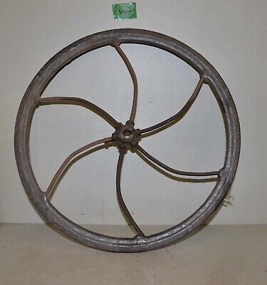 Antique John Deere corn sheller drive wheel early primitive farm collectible W7