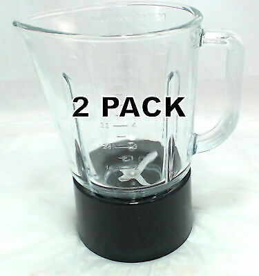 2 Pk, Blender Glass Black Jar Assembly for KitchenAid, AP4501338, W10279534