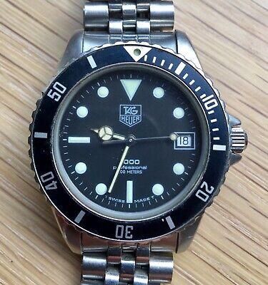 TAG Heuer 1000 Professional 200M 980.013N Date Stainless Steel Watch & Bracelet